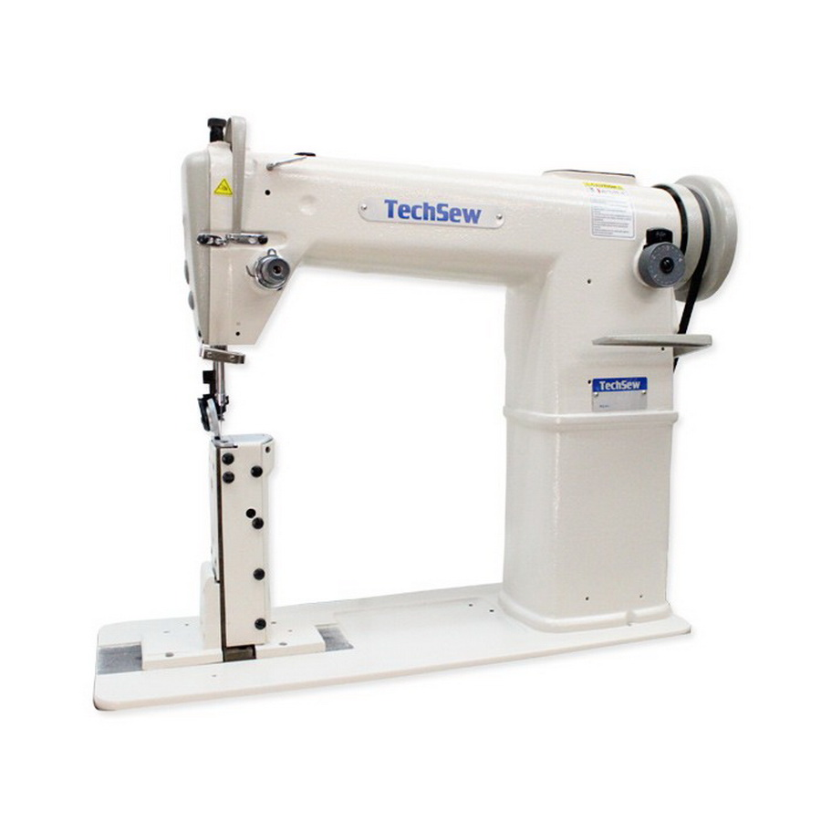 Techsew 810 Post Bed Roller Foot Industrial Sewing Machine with Assembled Table and Motor