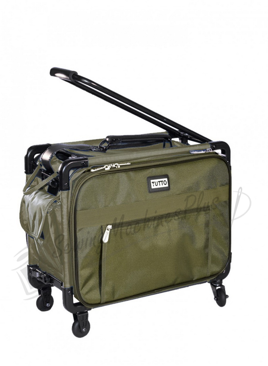 """17"""" Tutto Small Carry-On Luggage on Wheels - OLIVE"""