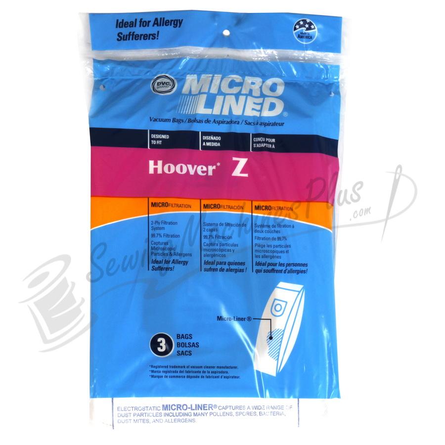 Hoover Z Paper Bag 3pk microlined (06.211)
