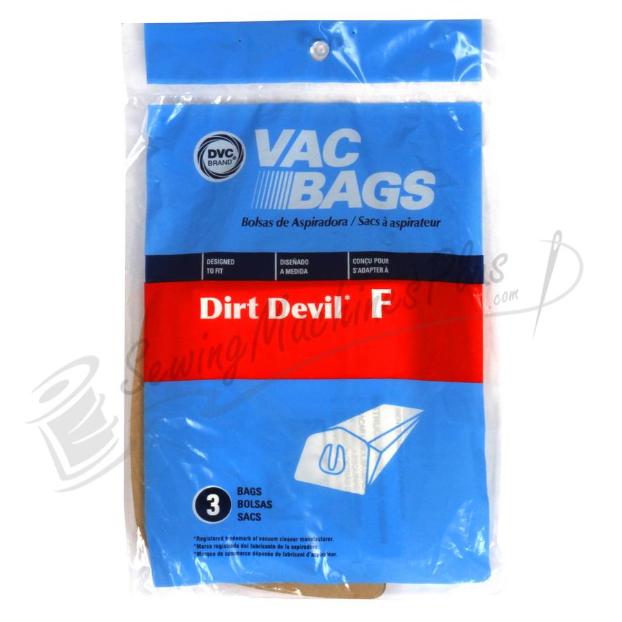 DVC Dirt Devil F Can Vac 3pk paper bag (06.312)