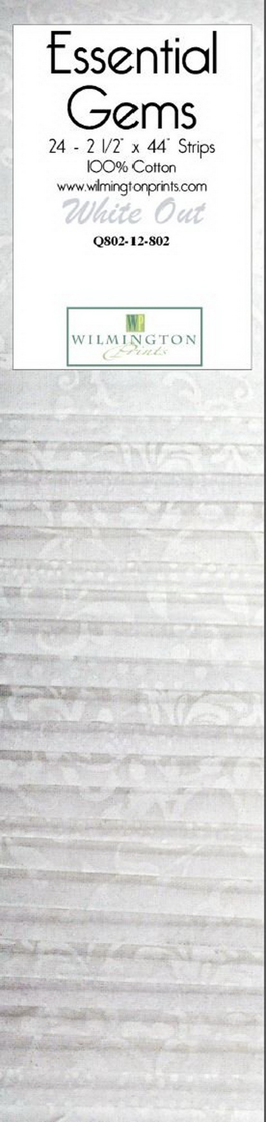 Wilmington Prints White Out 24 Pack - 2.5 inch x 44 inch Strips