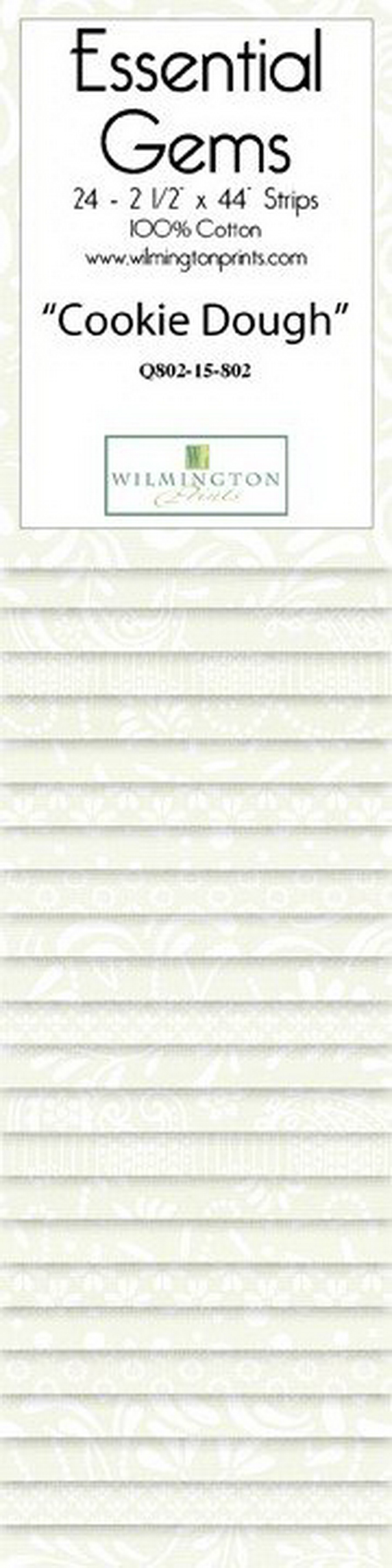 Wilmington Prints Cookie Dough - 2.5 inch x 44 inch Strips