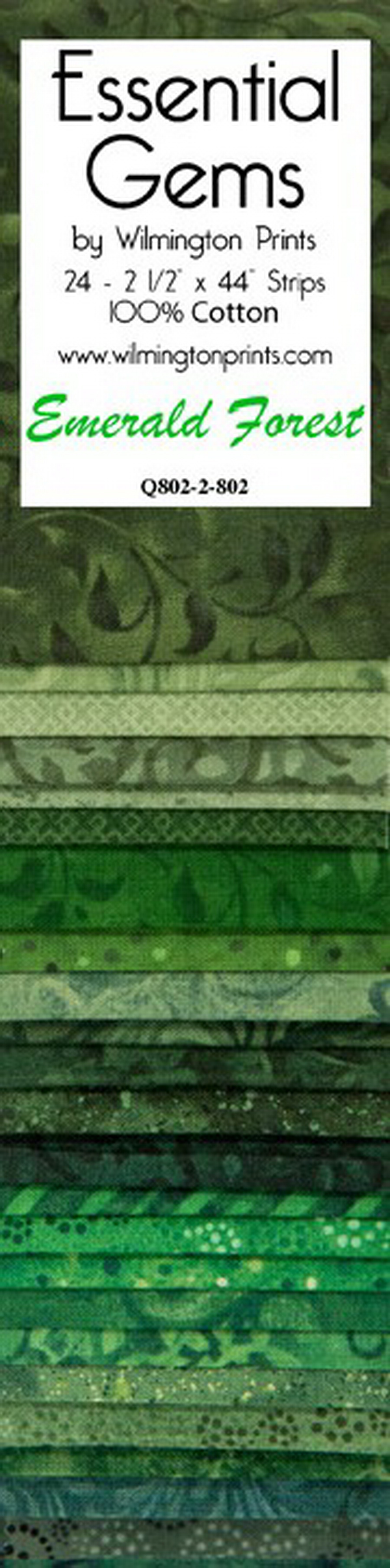 Wilmington Prints Emerald Forest 24 Pack - 2.5 inch x 44 inch Strips