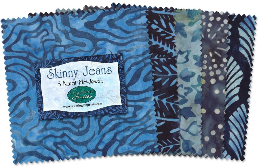 Wilmington Prints Skinny Jeans Fabric Kit - 5 inch Squares