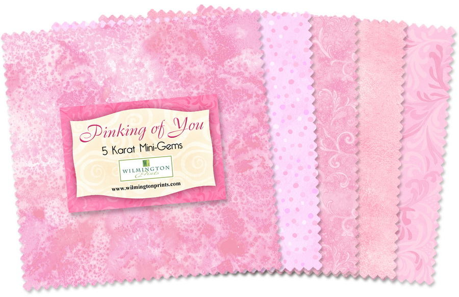 Wilmington Prints Pinking of You Fabric Kit - 5 inch Squares