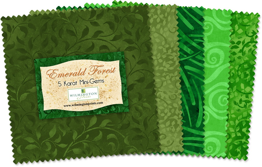 Wilmington Prints Emerald Forest Fabric Kit - 5 inch Squares