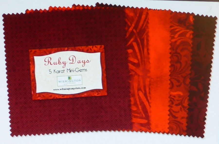 Wilmington Prints Ruby Days Fabric Kit - 5 inch Squares