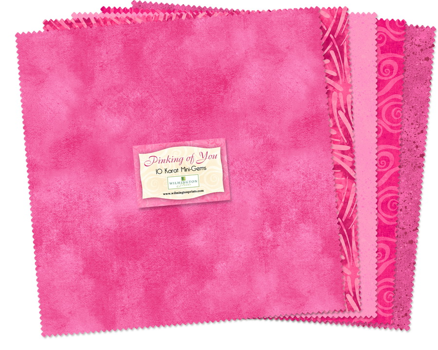 Wilmington Prints Pinking of You Fabric Kit - 10 inch Squares