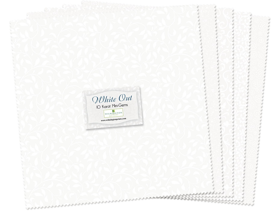 Wilmington Prints White Out Fabric Kit - 10 inch Squares