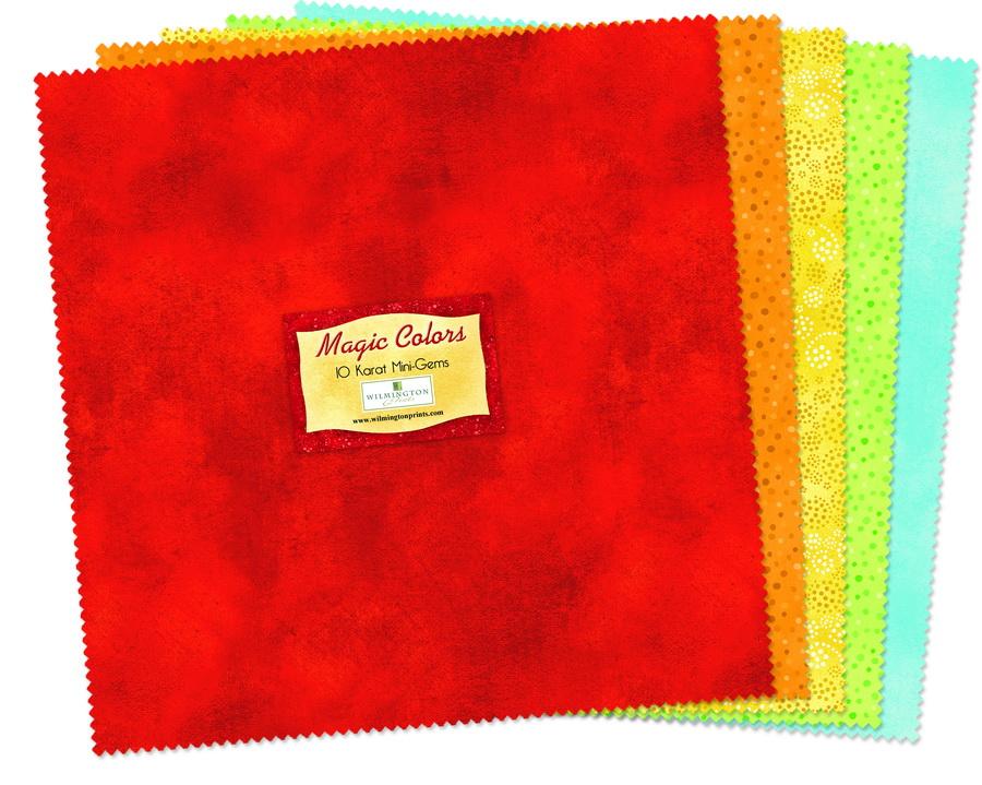 Wilmington Prints Magic Colors Fabric Kit - 10 inch Squares