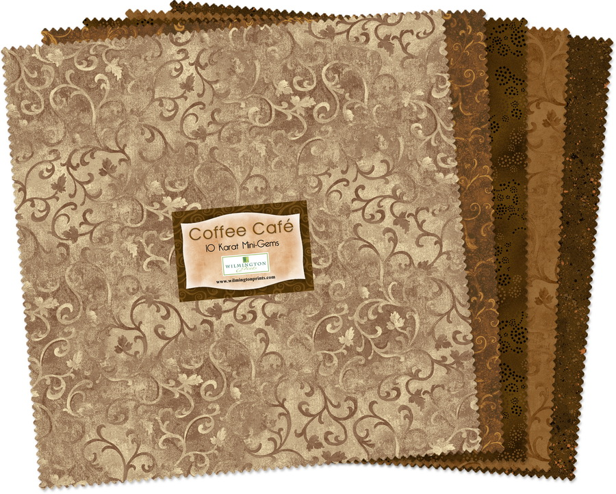 Wilmington Prints Coffee Cafe Fabric Kit - 10 inch Squares