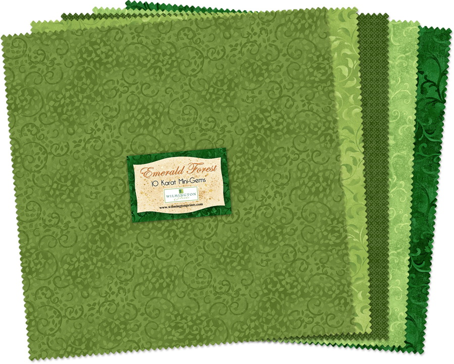 Wilmington Prints Emerald Forest Fabric Kit - 10 inch Squares