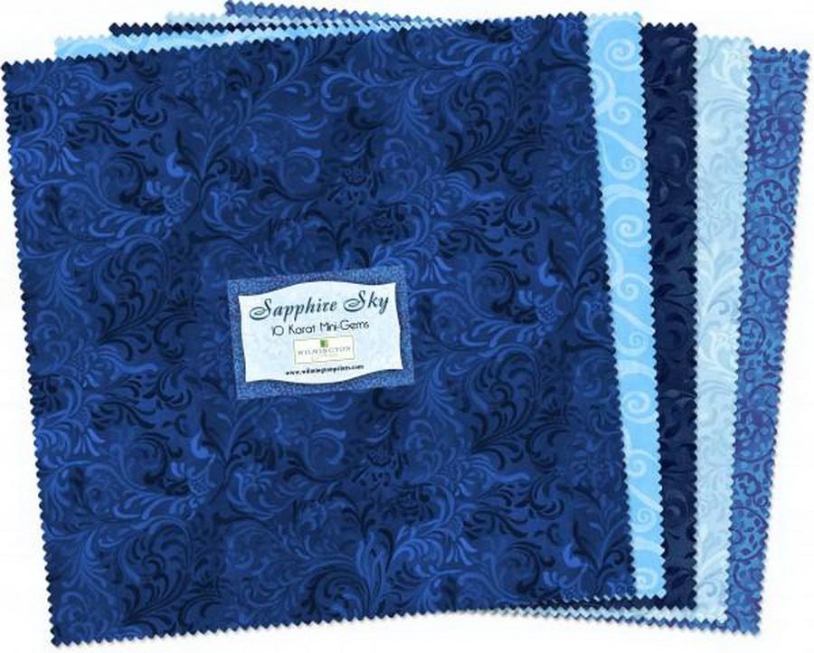 Wilmington Prints Sapphire Sky Fabric Kit - 10 inch Squares