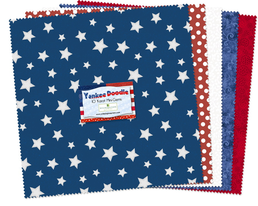 Wilmington Prints Yankee Doodle Fabric Kit - 10 inch Squares