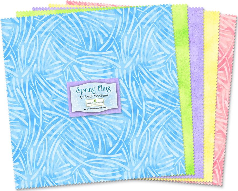 Wilmington Prints Spring Fling Fabric Kit - 10 inch Squares