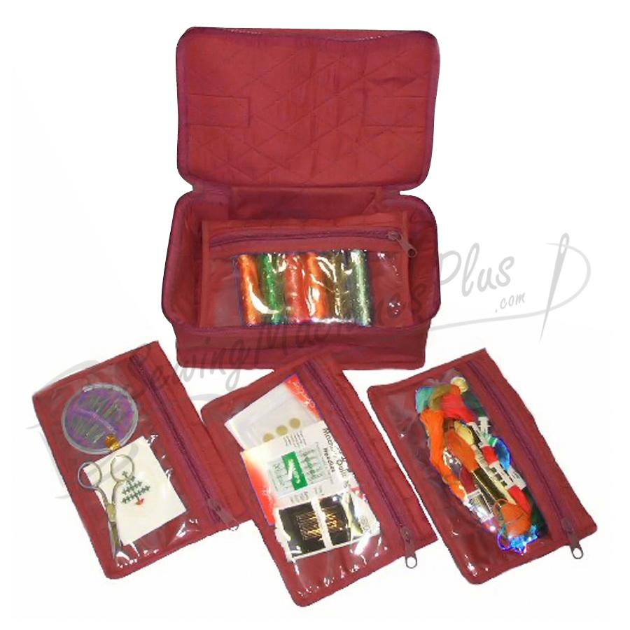 Yazzii 4 Pocket Craft Organizer-Maroon (CA340M)