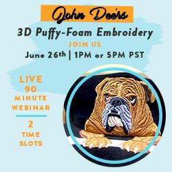John Deer's 3D Puffy Foam Digitizing with SMP