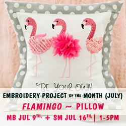 POM Flamingo Pillow, SM and MB