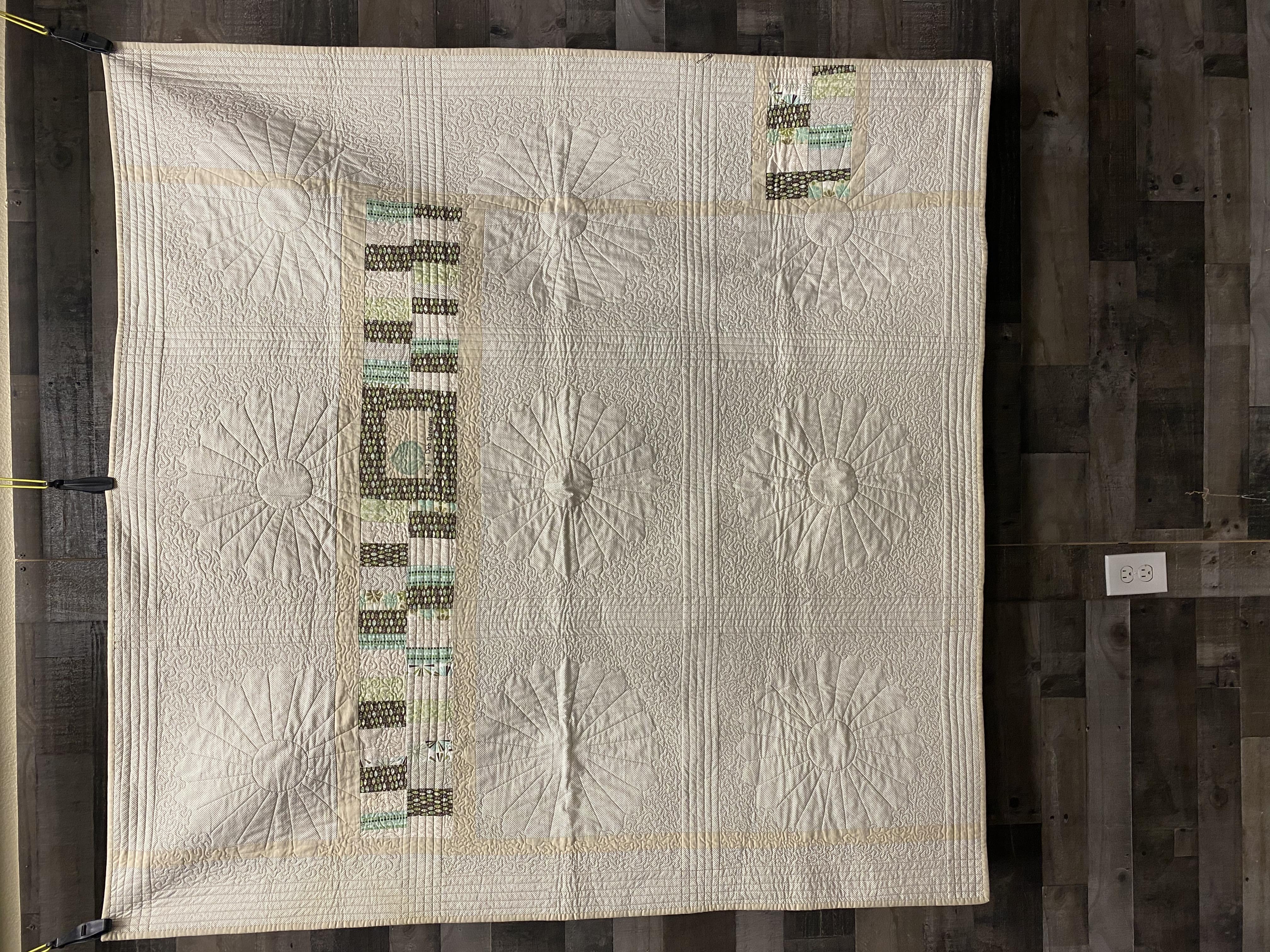 b.Full quilt back