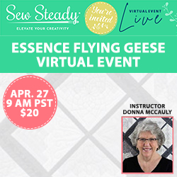 Sew Steady Virtual Event Flying Geese