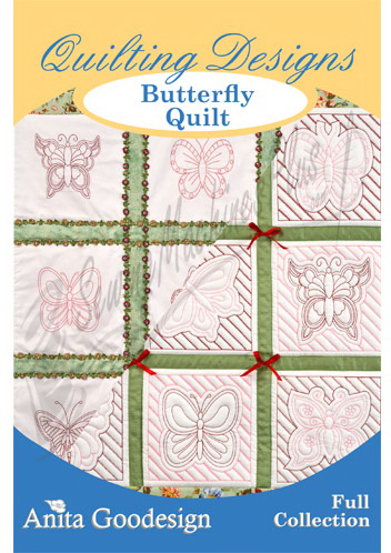 Anita Goodesign Butterfly Quilt Pattern Sewing Machines Plus