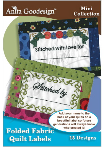 Anita Goodesign Folded Fabric Quilt Labels 123maghd