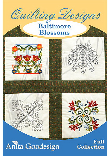 Anita Goodesign Quilting Designs Baltimore Blossoms 134aghd