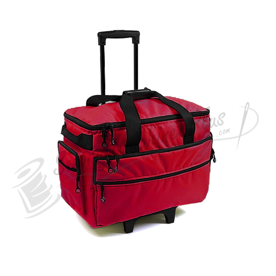 Purple Singer Wheeled Tote Carrier Bernina BlueFig TB19 Sewing Machine Rolling Carrying Case Trolley Bag with Wheels for Brother