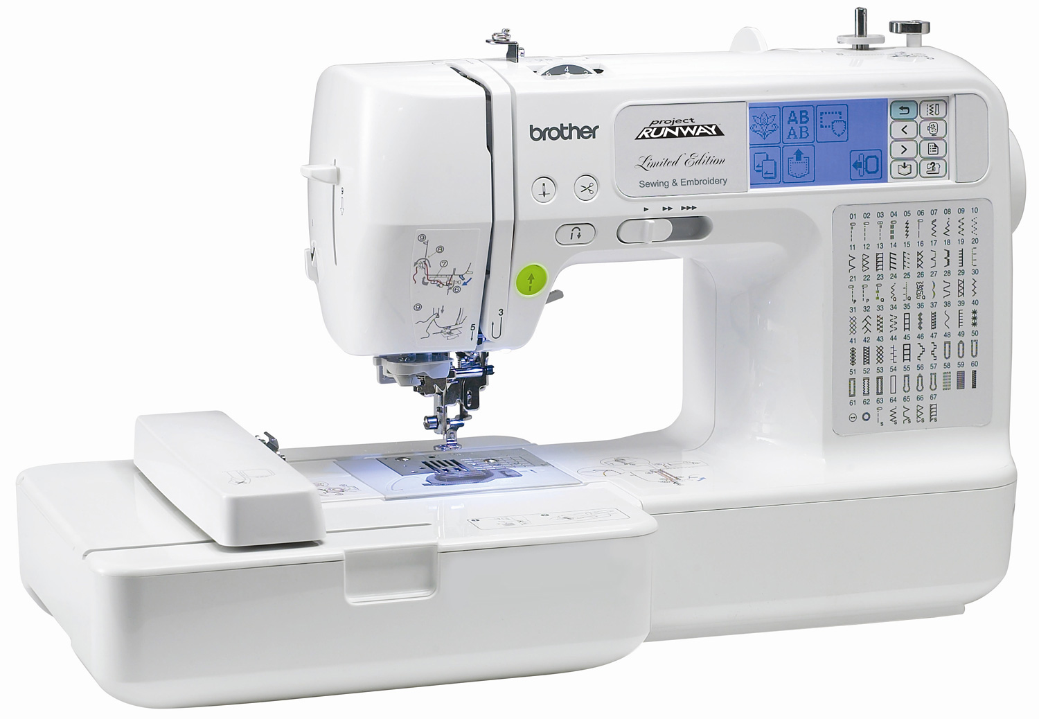 brother lb6770 prw project runway limited edition sewing embroidery machine. Black Bedroom Furniture Sets. Home Design Ideas