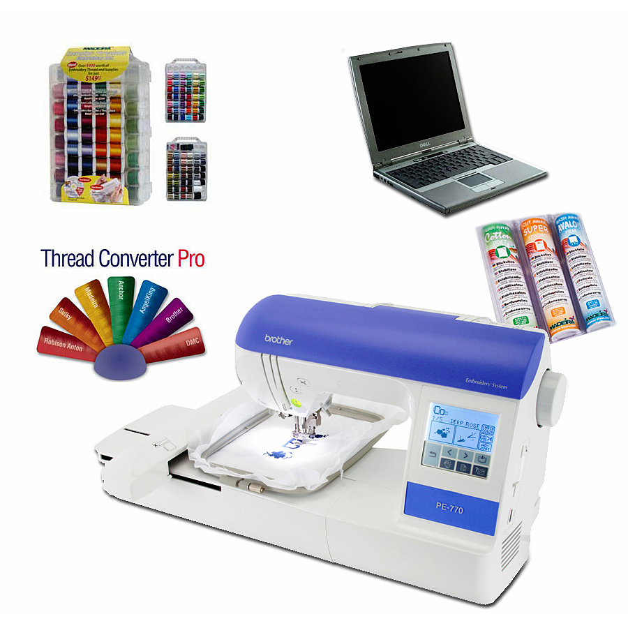 Brother PE-770 Embroidery Package Special