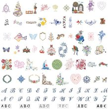 136 built in embroidery designs