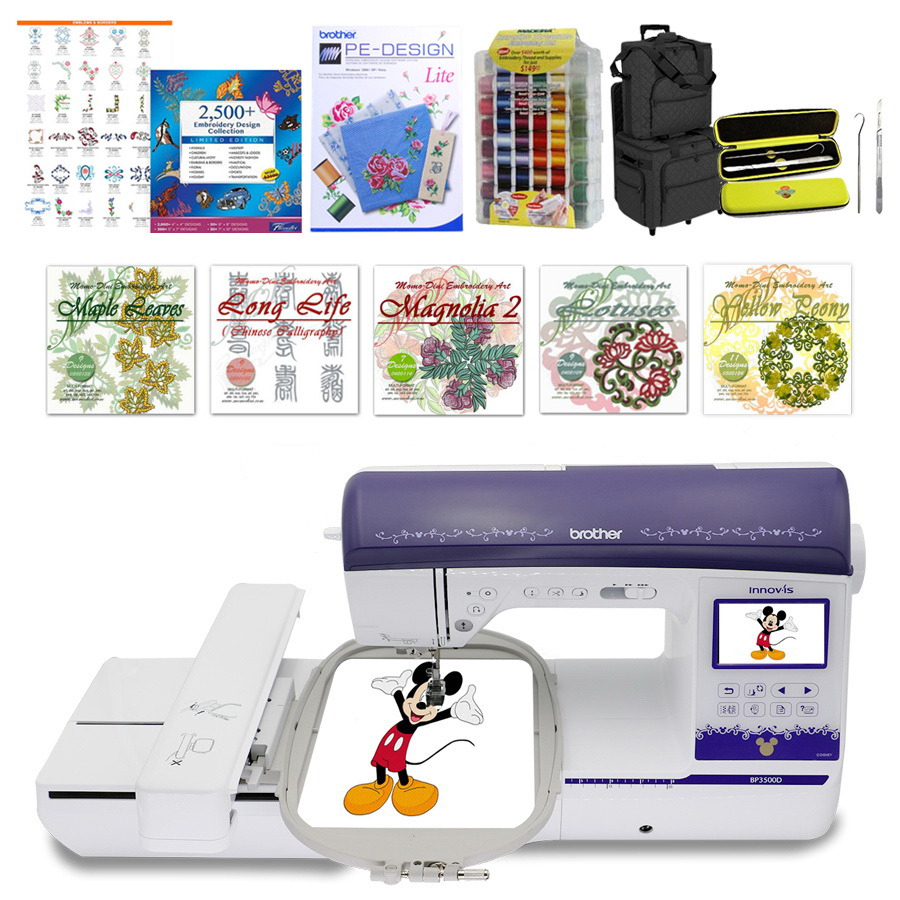 790cf699 Brother BP3500D Sewing and Embroidery Machine & I Want It All Bundle