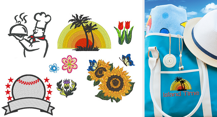 287 Built-In Embroidery Designs
