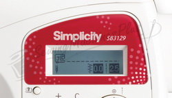 Direct 10-key stitch selection and large LCD display screen