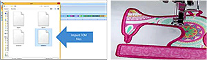 Convert cut files into appliqué embroidery files