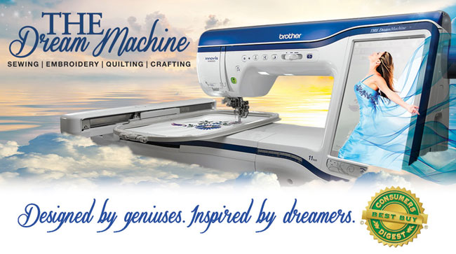 New!! Brother THE Dream Machine Innov-is XV8500D. Sewing, Embroidery, Quilting Crafting. Designed by geniuses, inspired by dreamers.