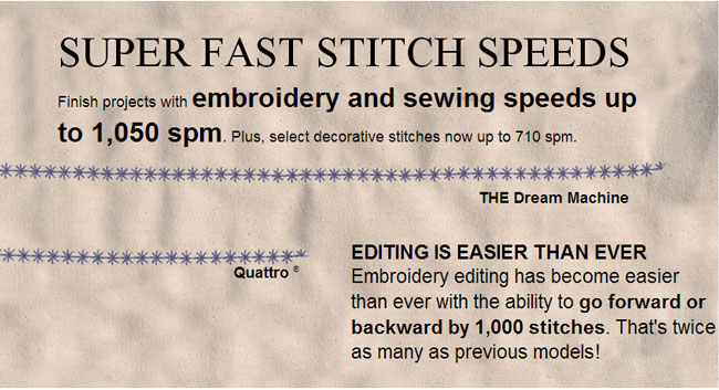 Super Fast Stitch Speeds