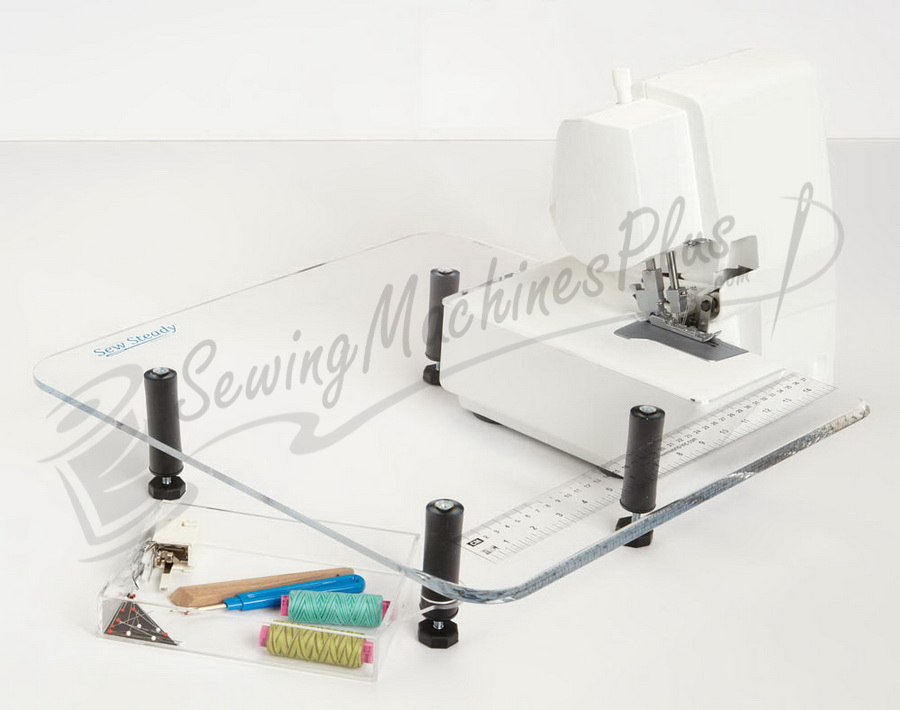 "Dream World 40"" X 40"" Sew Steady Extension Table For Sergers Stunning Adjustable Sewing Machine Extension Table"
