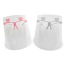 High Quality Face Shield in White or Pink - 10 Pack (FREE 4oz. Bottle of Hand Sanitizer Included)