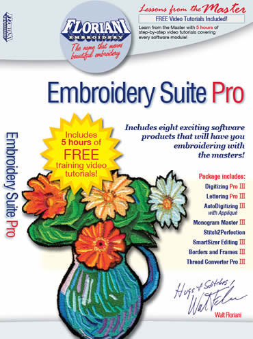 Floriani Embroidery Suite Pro Embroidery Software w/ Free Tutorials