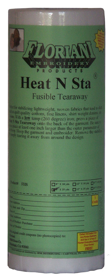 Floriani Heat N Sta Fusible Tearaway 1.5oz, 12in x 25 yds