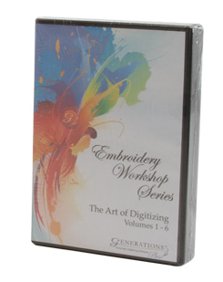 Generations Software Embroidery Workshop Series: The Art of Digitizing Vol 1-6
