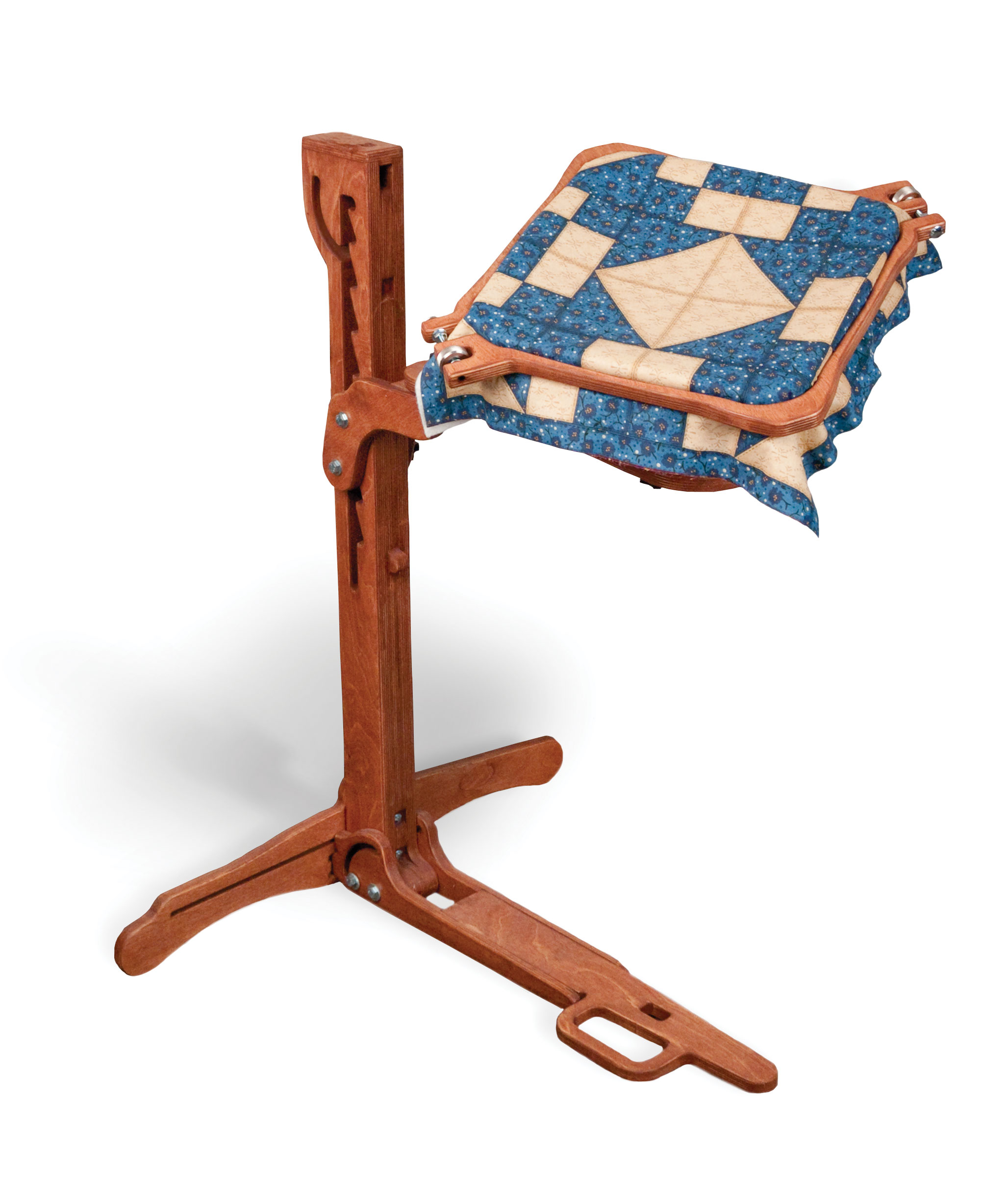 GraceHoop Squared - 24-inch square hand-quilting hoop : quilt hoop floor stand - Adamdwight.com