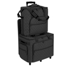 Photo of Hemline Black Embroidery Studio Collection Three Bag Trolley Set from Heirloom Sewing Supply