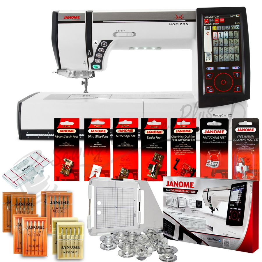 Janome Memory Craft Horizon Mc12000 Professional Sewing