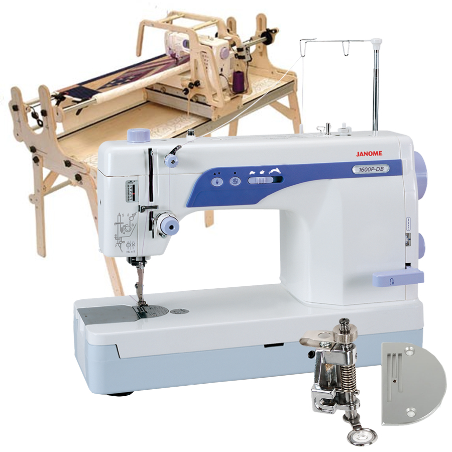 Little Gracie II Quilting Frame, Janome 1600P-DB High Speed Sewing ...