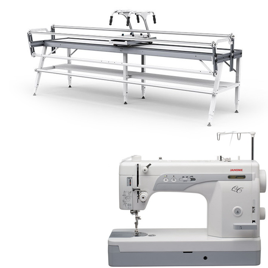 Janome 1600P-QC Sewing Machine w/ Grace GQ Quilting Frame