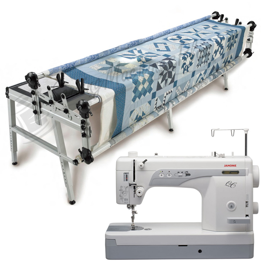 janome 1600p qc sewing machine w grace gq quilting frame