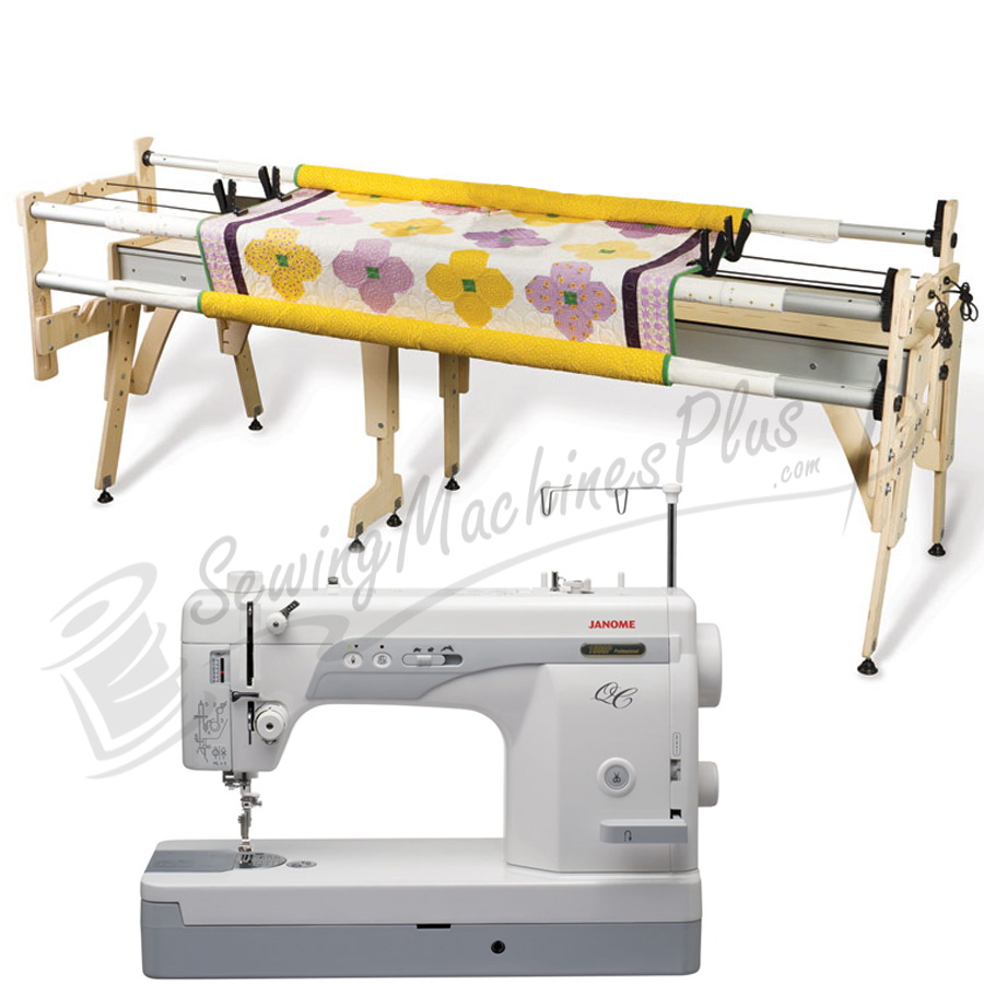 Janome 1600P-QC Sewing Machine w/ Grace Queen Quilting Frame
