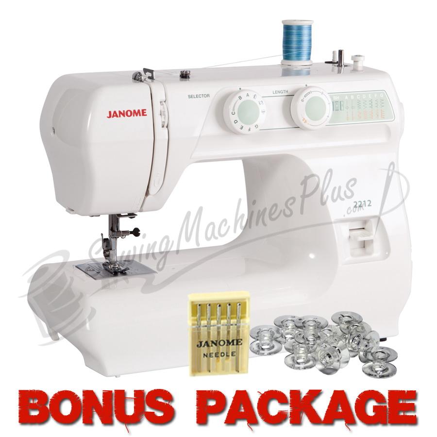 Janome 2212 12 Stitch Full Size Freearm Sewing Machine & FREE BONUS